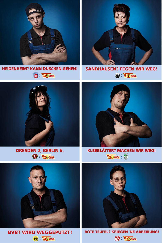 Mitarbeiter Portrait Serie für eine Webkampagne
